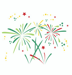 Variety firework set design vector