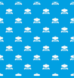 vegetables pattern seamless blue vector image