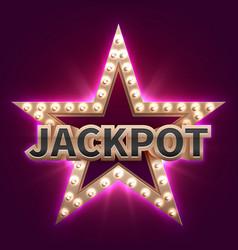 vintage casino mega bonus poster with retro vector image