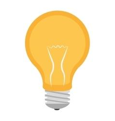 Yellow light bulb graphic vector