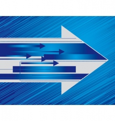 blue background with the arrows vector image