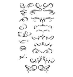 Calligraphic Strokes vector image vector image