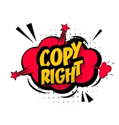 Comic red sound effects pop art copy right vector image