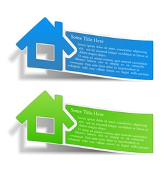 Flyers with a house vector image vector image