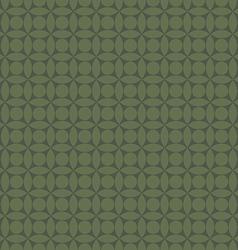 Green abstract geometric circles tile seamless vector image vector image