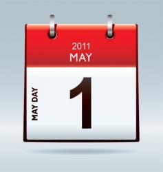 may day calendar icon vector image