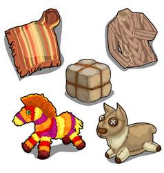 poncho shirt fur and soft toy llama vector image vector image