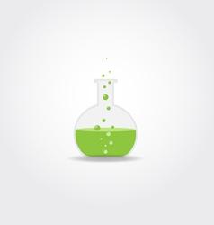 Simple chemistry bulb vector image