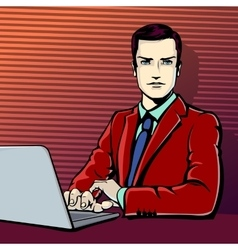 successful businessman with vector image vector image