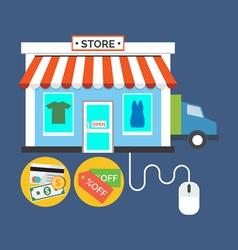 Web store Online shop concept Flat design stylish vector image vector image
