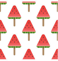 seamless watermelon pattern background vector image vector image