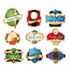 set of vintage golden labels vector image