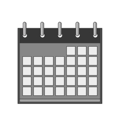 silhouette with calendar days blank vector image