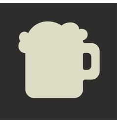 Stylized silhouette of glass mug with green beer vector image