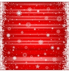 The red snowy background vector image vector image