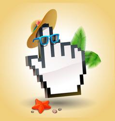 travel cursor hand icon vector image