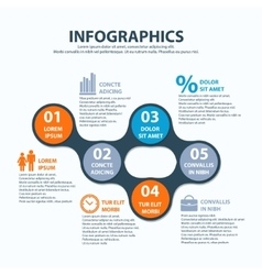 Business Infographics circle origami style can be vector image vector image