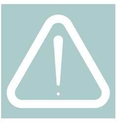 Sign of attention the white color icon vector