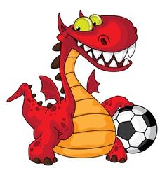 dragon and ball vector image