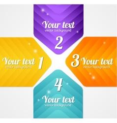 Modern glossy infographics options arrow banner vector image vector image