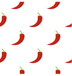red hot chili pepper pattern flat vector image