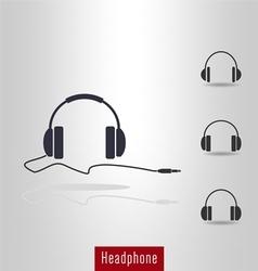 Set of Headphone icon vector image vector image