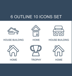 10 icons vector