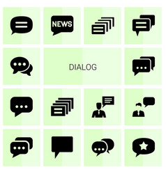 14 dialog icons vector image