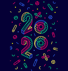2020 happy new year greeting card happy new year vector