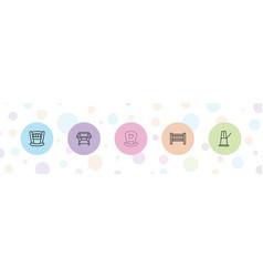 5 cradle icons vector