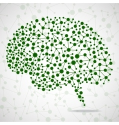 Abstract brain human vector