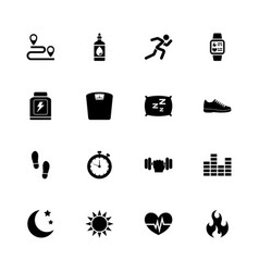 Activity tracking - flat icons vector