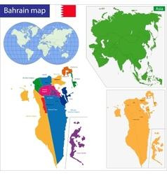 Bahrain map vector