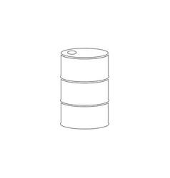 barrel oil flat icon vector image