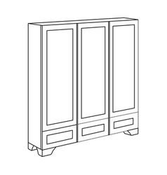 bedroom wardrobe for clothingbedroom furniture vector image