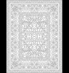 Black and white carpet vector