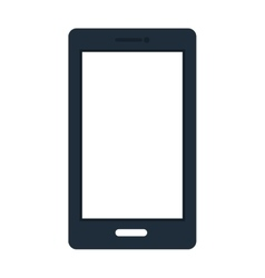 Blue and white smartphone vector