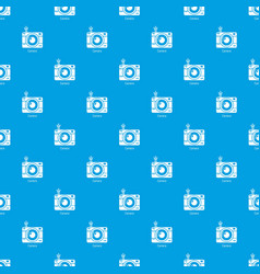 camera pattern seamless blue vector image