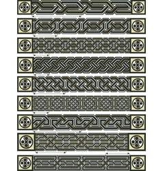 Celtic design borders vector