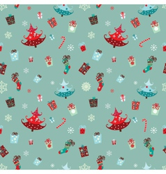 christmas elements pattern vector image