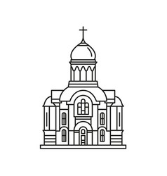 church icon outline style vector image