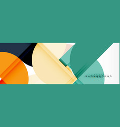 Circle modern geometrical abstract background vector