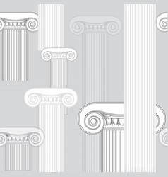 Classic columns seamless background roman vector