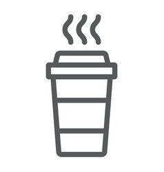 Coffee line icon caffeine and drink disposable vector