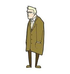 Comic cartoon bad tempered man vector