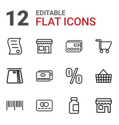 Commerce icons vector