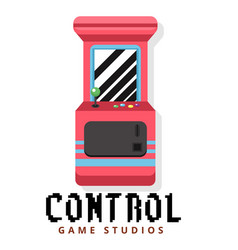 control game studios game machine background vector image