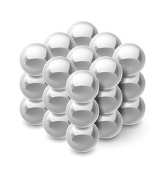 Cube from magnetic balls vector