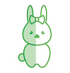 cute and tender female rabbit kawaii style vector image
