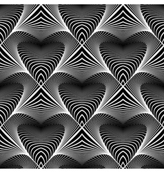 Design seamless monochrome striped pattern vector image